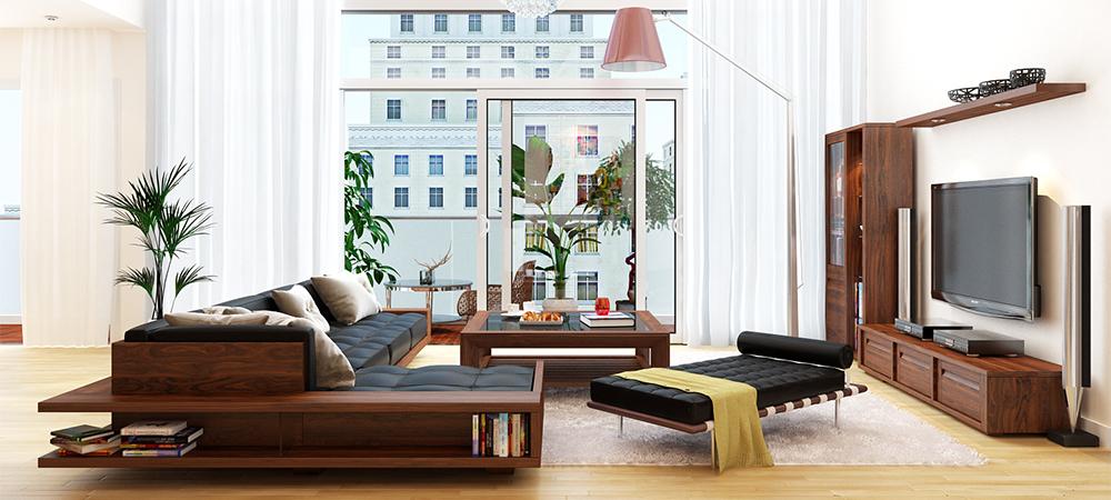 Những mẫu thiết kế kệ tivi gỗ tự nhiên đẹp nhất 2019 5