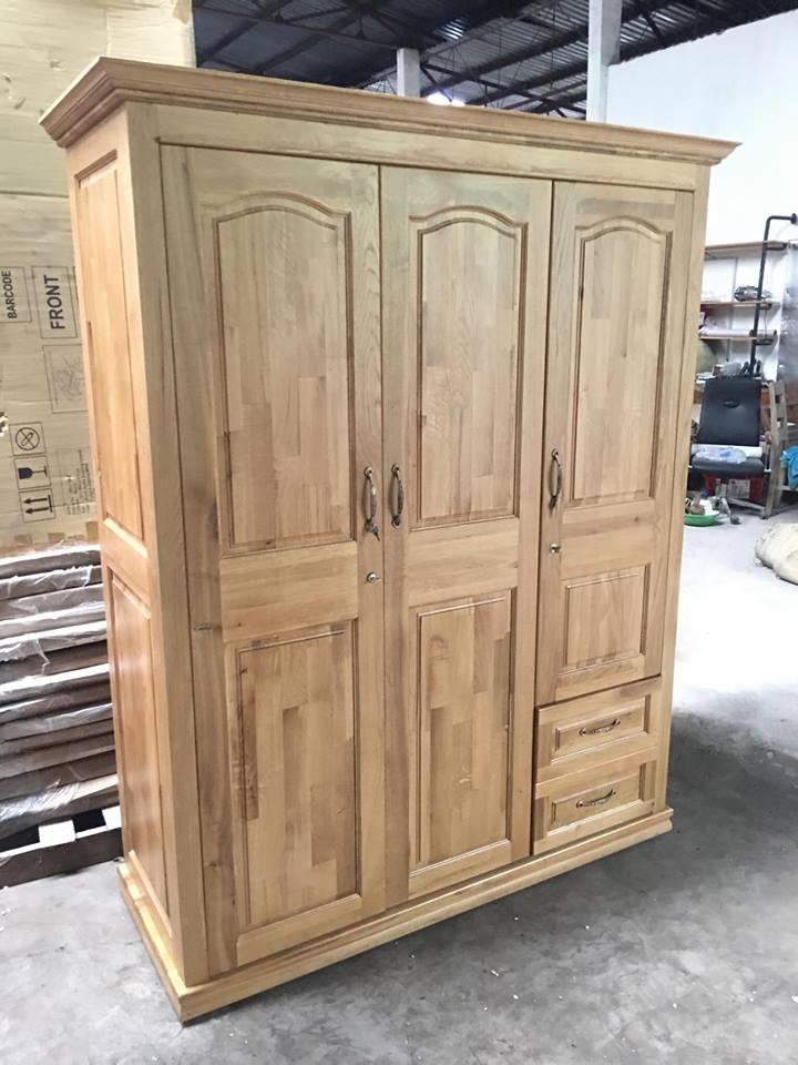 Tủ quần áo gỗ sồi