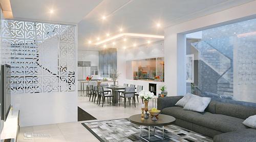 Mẫu thiết kế nội thất cho không gian rộng
