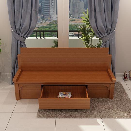 Giường gấp thành ghế bằng gỗ