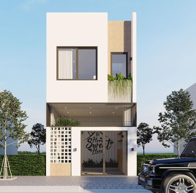 Bản vẽ nhà 2 tầng đẹp