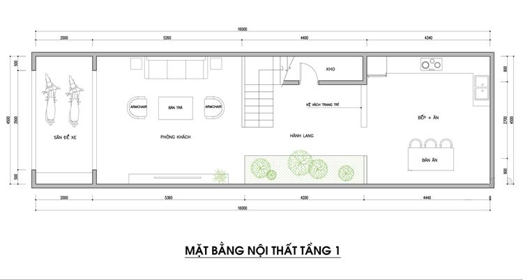 Bản vẽ nhà phố 3 tầng