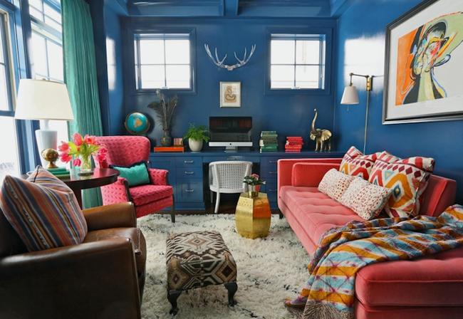 Cách kết hợp màu sắc trong thiết kế nội thất