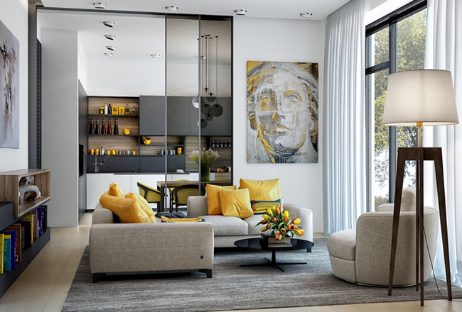 Cách phối màu vàng trong thiết kế nội thất