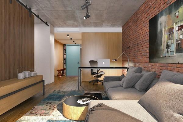 Mẫu căn hộ studio nhỏ với thiết kế đẹp và đơn giản