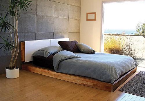 Mẫu giường ngủ hiện đại dạng phẳng