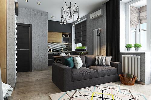 Mẫu thiết kế căn hộ 40m2 Trang trí căn hộ 40m2