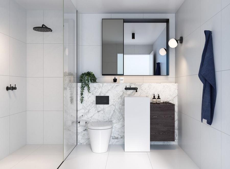 Mẫu thiết kế phòng tắm khi sửa chữa căn hộ chung cư