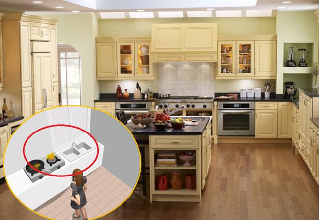 Những nguyên tắc cấm kỵ trong phong thủy nhà bếp