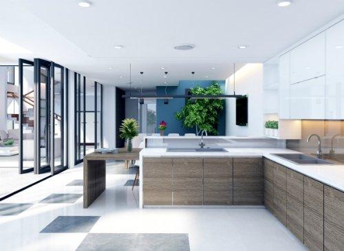 Phòng bếp đẹp hiện đại Mẫu nhà bếp đẹp đơn giản