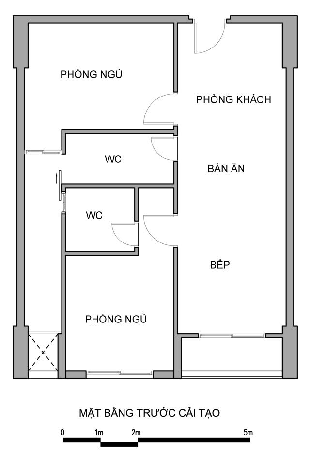Sửa căn hộ chung cư 65m2