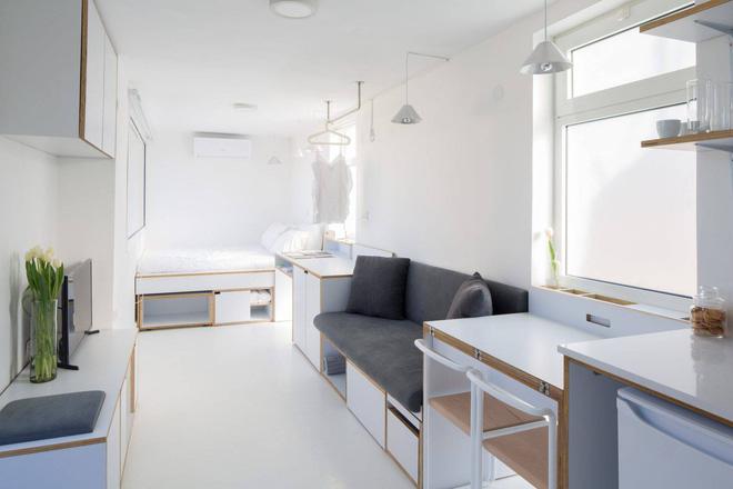 Thiết kế căn hộ đẹp 15m2 Mẫu nhà nhỏ 15m2 mới nhất 2020