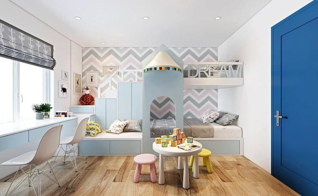 Thiết kế căn hộ hiện đại mang phong cách cho trẻ em