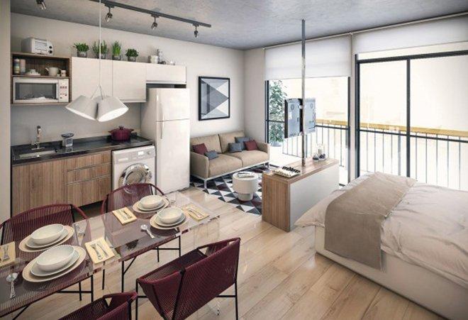 Thiết kế căn hộ nhỏ thông minh & Thiết kế căn hộ nhỏ cho vợ chồng trẻ