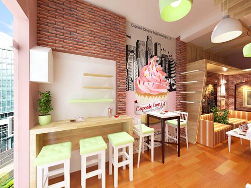 Thiết kế nội thất cho quán kem