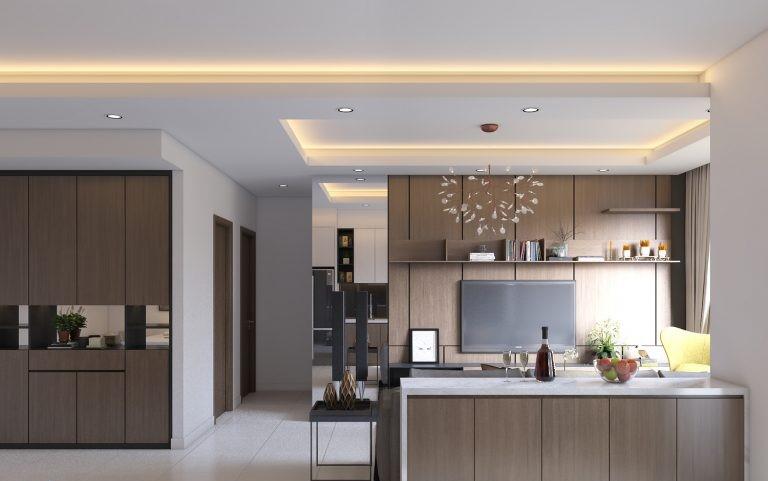 Thiết kế nội thất chung cư 85m2 Thiết kế nội thất chung cư 2 phòng ngủ