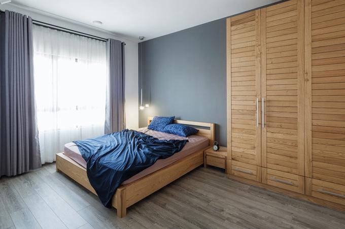 Thiết kế phòng ngủ căn hộ di động với vách ngăn di động