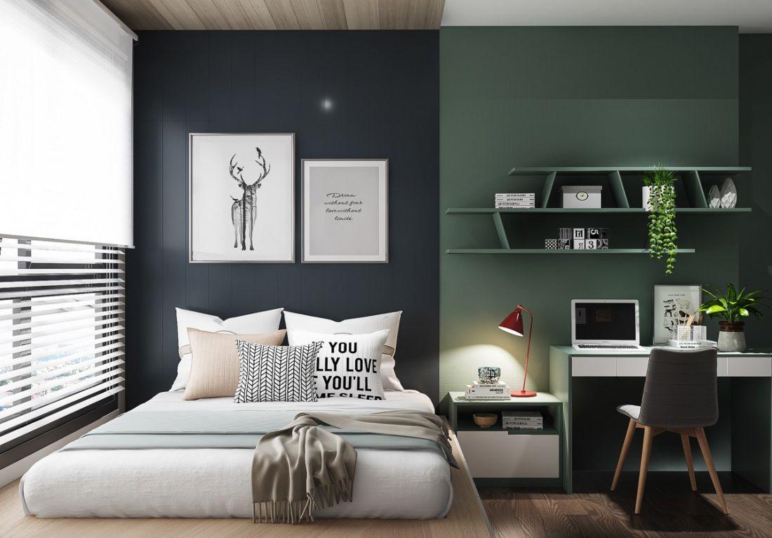 Thiết kế phòng ngủ đẹp phong cách nam tính