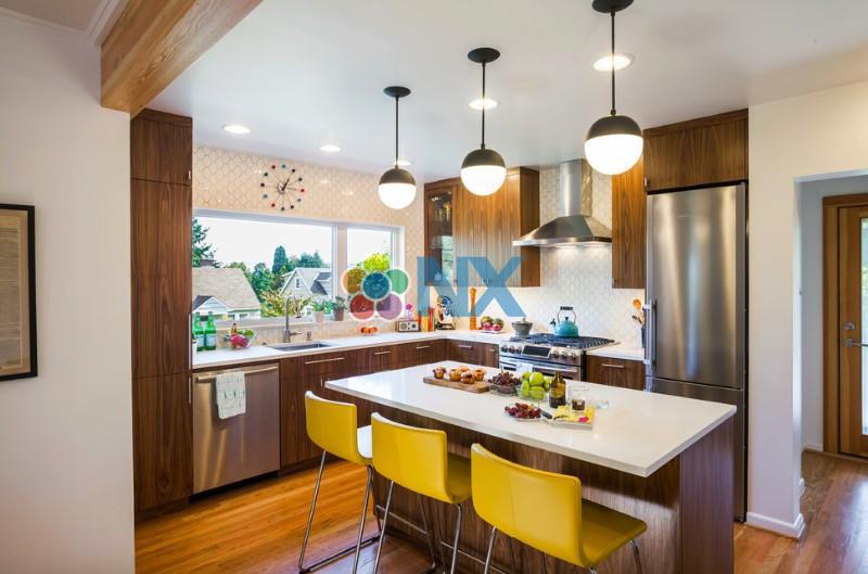 Ý tưởng thiết kế nhà bếp nhỏ theo phong cách Mid-century modern